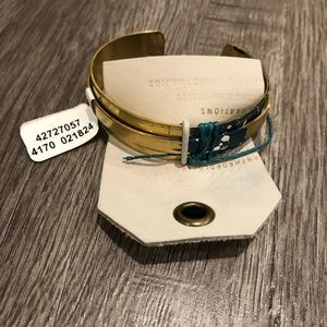 Anthropologie Jewelry - Anthropologie Gold Cuff Bracelet